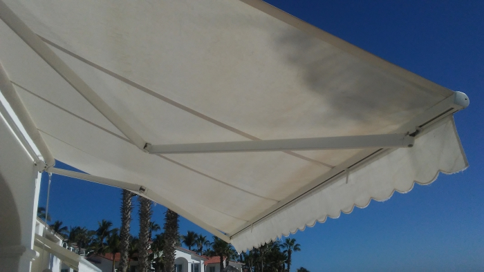 I need a 12u0027 wide manual retractable awning. It is white powder coat metal with a white or off-white canvas. Attached are a couple of photos of what I am ... & Retractable Awnings - Free Shipping